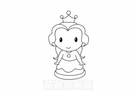 贝儿公主简笔画图片大全,教程