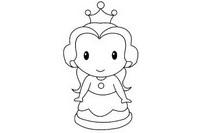 贝儿公主简笔画图片大全、教程