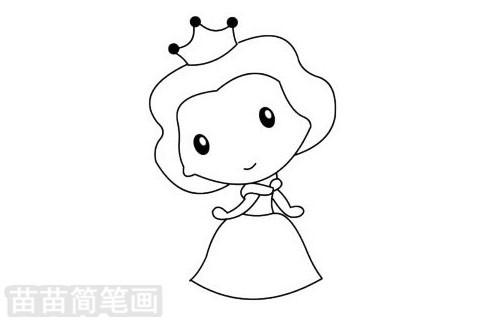 简笔画 人物简笔画 美国卡通人物简笔画 >> 正文内容   贝儿公主小
