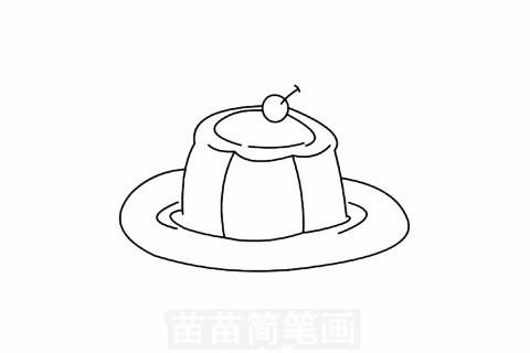 步骤四:中间画一个椭圆.