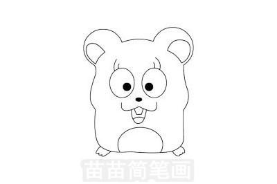 简笔画 动物简笔画 野生动物简笔画 >> 正文内容   仓鼠简笔画分步骤