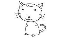 猫咪简笔画图片大全、画法