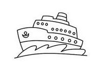 轮船简笔画图片大全、画法