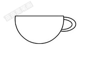 杯子简笔画图片步骤三