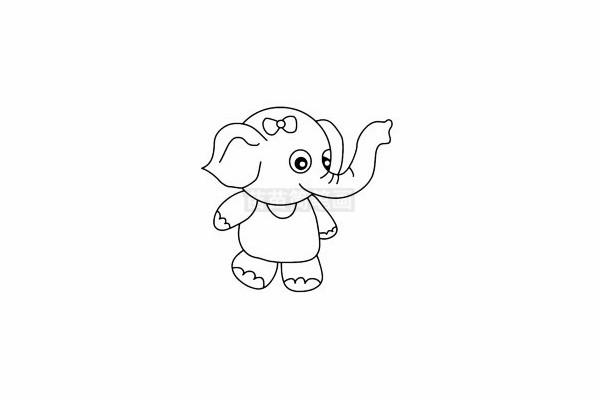 动物简笔画 野生动物简笔画 >> 正文内容   大象简笔画分步骤画法是