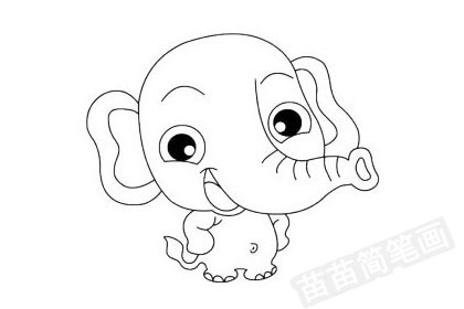 大象简笔画图片大全 画法