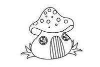 蘑菇屋简笔画简单画法