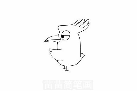 戴胜鸟简笔画大图