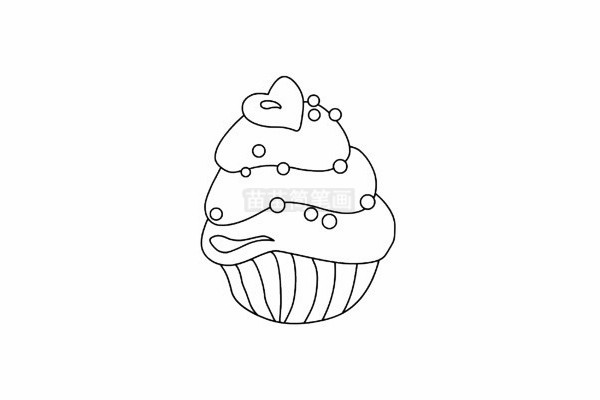 蛋糕简笔画图片步骤五