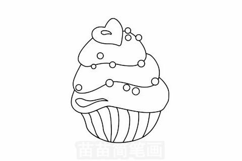 蛋糕简笔画大图