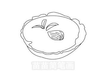 蛋挞简笔画图片大全 教程