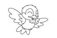 小鸟简笔画简单画法
