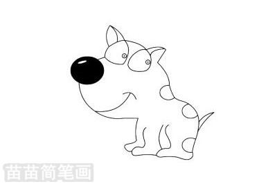 狗狗简笔画图片大全,教程
