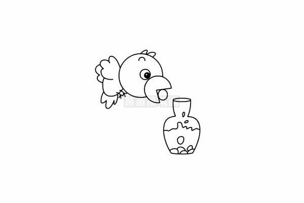 乌鸦喝水简笔画简单画法
