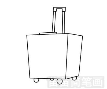 行李箱简笔画图片步骤三