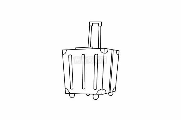 行李箱简笔画图片步骤五