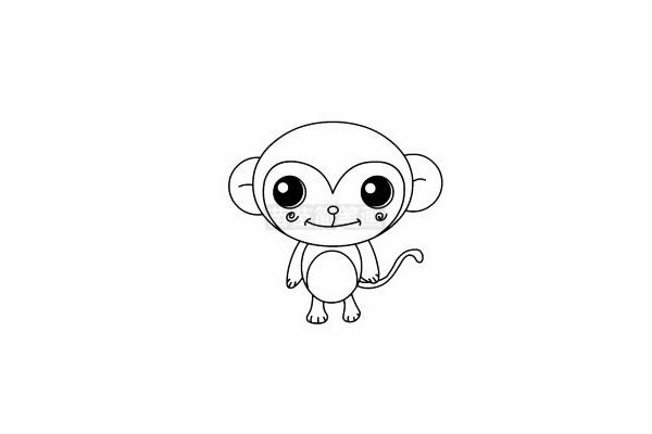 猴子简笔画图片大全 画法