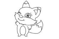 狐狸简笔画图片大全、画法