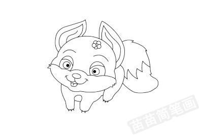 狐狸简笔画图片大全 画法