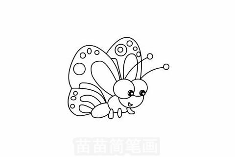 蝴蝶简笔画图片大全,画法