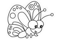 蝴蝶简笔画图片大全、画法