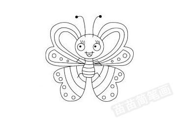 蝴蝶简笔画图片大全 画法