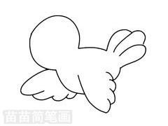 黄鹂简笔画图片步骤二