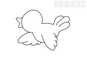 黄鹂简笔画图片步骤三