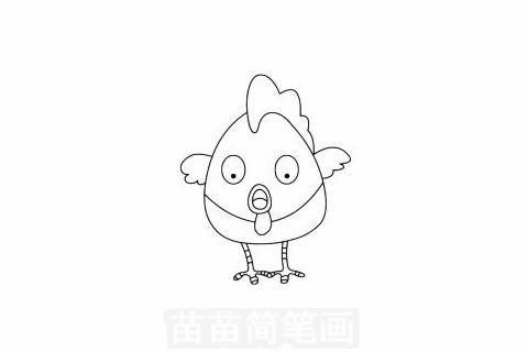 鸡简笔画图片大全,画法
