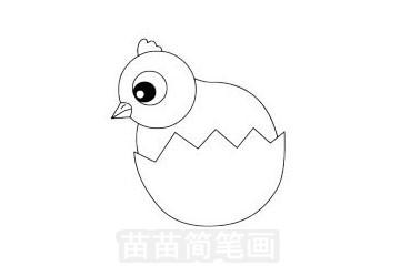 鸡简笔画图片大全 画法