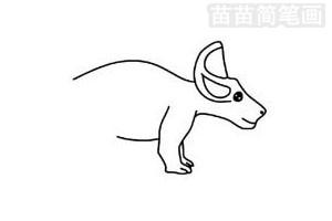 戟龙简笔画图片步骤二