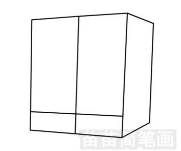柜子简笔画图片步骤三