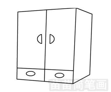 柜子简笔画图片步骤四