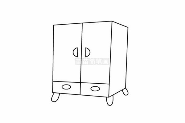 柜子简笔画图片步骤五