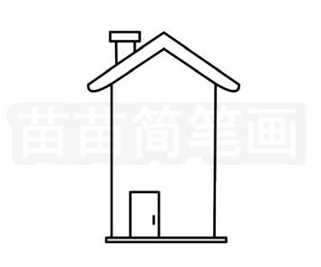 建筑简笔画图片步骤二