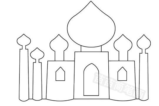 建筑简笔画图片大全,教程