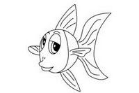 金鱼简笔画图片大全、画法
