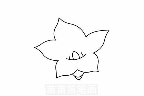 桔梗花简笔画大图