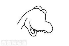 巨兽龙简笔画图片步骤一