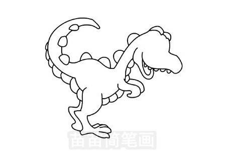 巨兽龙简笔画图片步骤三