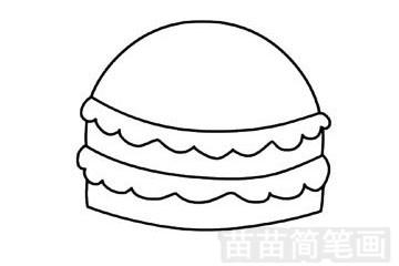 快餐简笔画图片步骤三