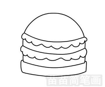 快餐简笔画图片步骤四