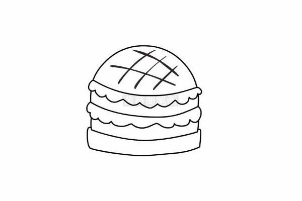 快餐简笔画图片步骤五