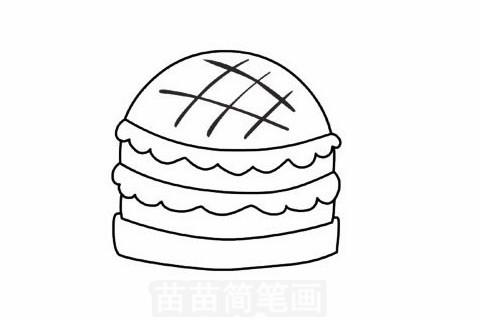快餐简笔画大图