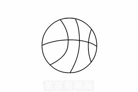 篮球简笔画图片大全,画法