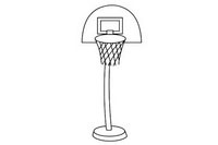 篮球架简笔画图片大全、教程