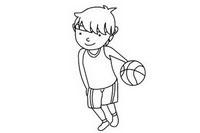 篮球运动员简笔画图片大全、教程