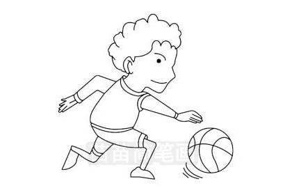 篮球运动员简笔画图片大全,教程