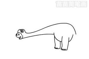 梁龙简笔画图片步骤二