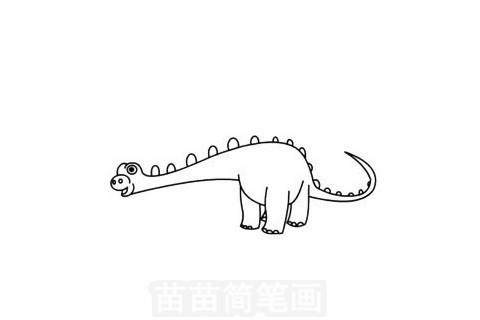 梁龙简笔画大图